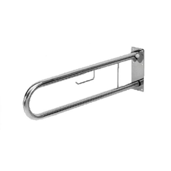 Apoio Articulado para sanitário c/ porta-rolo - Ref.ª 10.AP.4117