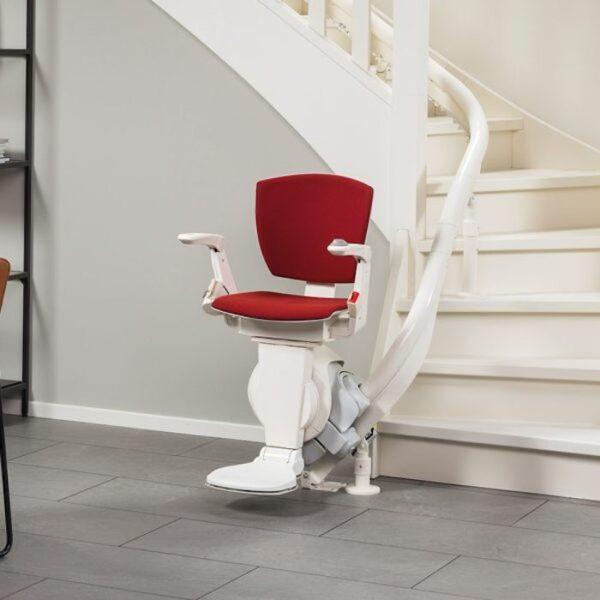 Cadeira elevatória para escada com curva - Monorail