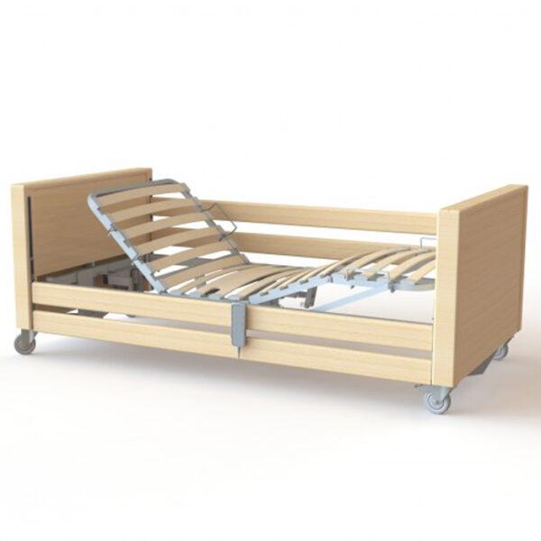 Cama elétrica Stella com tila e grades em madeira - Ref.ª 10.CM.6099